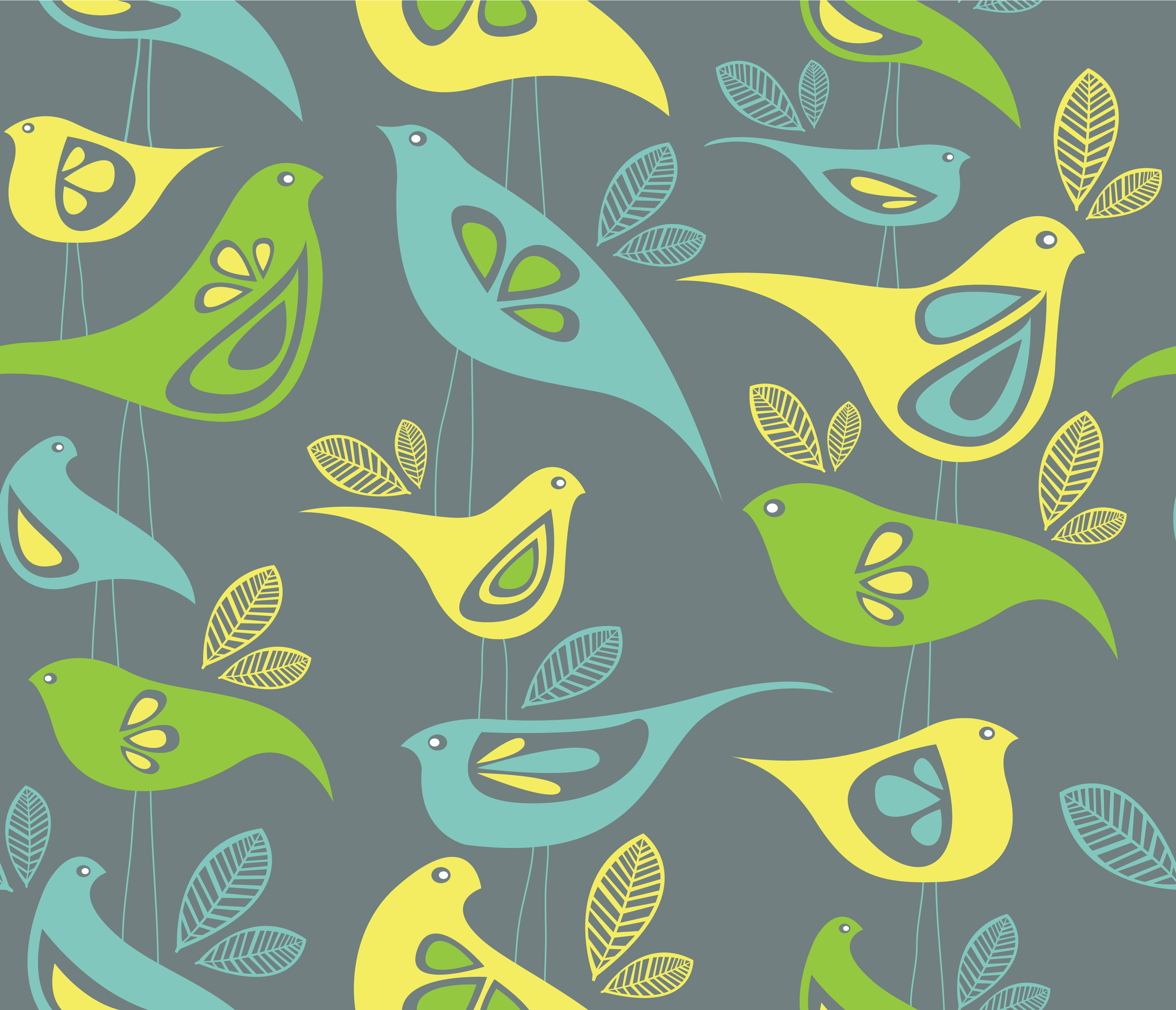 Fancy birds fabric design in the top 10 sketchcreative for Fabric designs